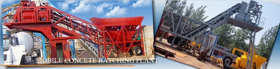 Mobile or Portable Concrete Batching Plant For Sale