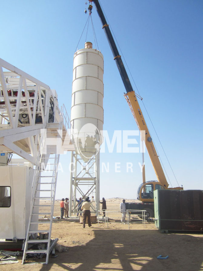 Mini Batching Plant : Mobile mini concrete batching plant