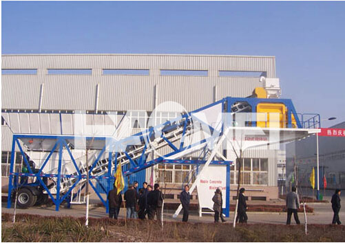 Portable Concrete Batch Plant YHZS50
