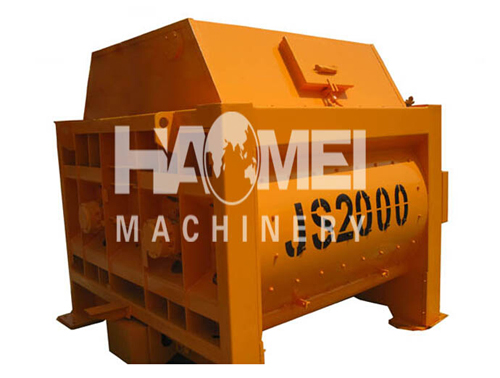 Twin Shaft Concrete Mixer Machine