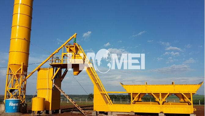 Mobile Concrete Mixing Batch Plant
