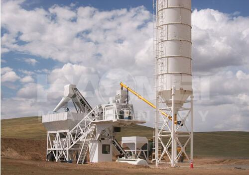 50m3/h Mobile Concrete Batch Plant